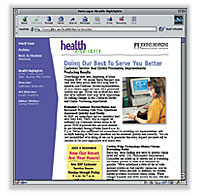 Health Highlights Web Site